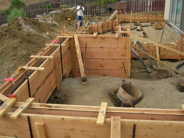 Construction for Concrete basement forms
